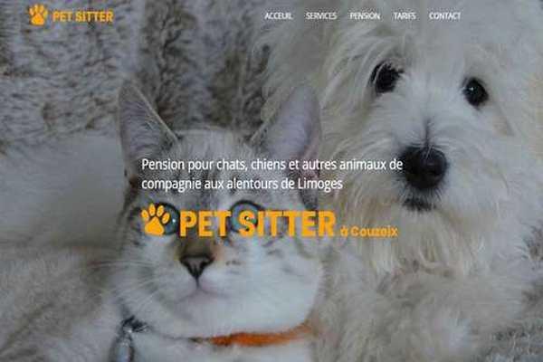 Site internet professionnel webacappela pour pension et arde d'animaux pet sitting
