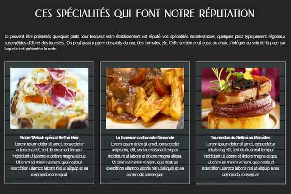 Site internet pour restaurant artisan petit entrepreneur, ajouter menu carte sur site web